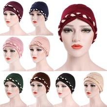 Double color Braid Islamic Prayer Hats Scarves Wraps Hijab Caps Women Muslim Inclusive Cap