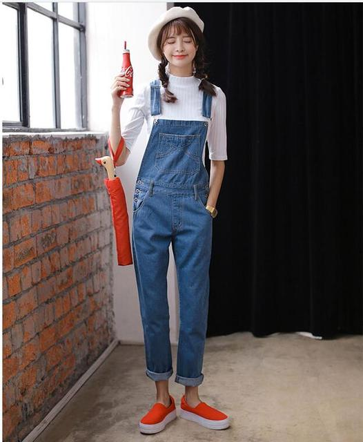 4172732fbd15 Jeans Jumpsuit Mori girl korean style Denim Jumpsuits Women s Overalls Pants  Ladies  Jeans Gallus Rompers Female Suspender