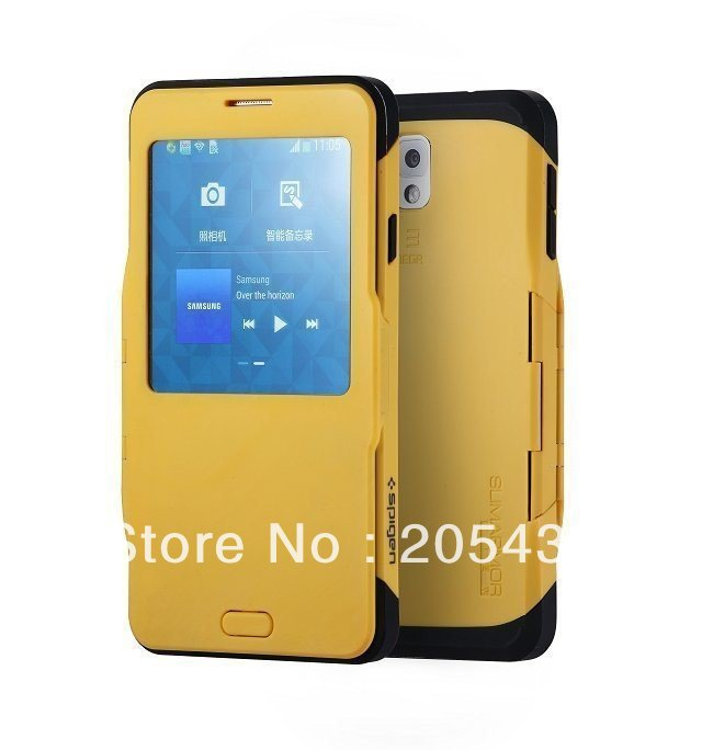 wholesale dealer cc005 67d2d US $15.98 |Galaxy Note 3 S View SPIGEN SGP Slim Armor Automatic Sleep/Wake  Flip Cover Case For Samsung Galaxy Note 3 N9000 on Aliexpress.com | Alibaba  ...