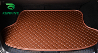 Car Styling Car Trunk Mats for Volvo S40 Trunk Liner Carpet Floor Mats Tray Cargo Liner Waterproof 4 Colors Opitional