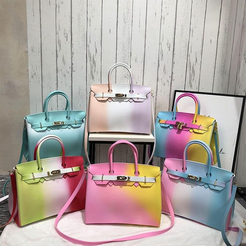 Mulheres saco de geléia de Silicone bolsas de luxo mulheres sacos designer de cor 2018 Moda bolsa feminina Modelo presente do Dia Dos Namorados ME882