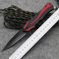 Top Tactical Knives Folder 3CR13MOV Steel Black Blade Steel Handle Camping Hunting Pocket Knives Edc Multi