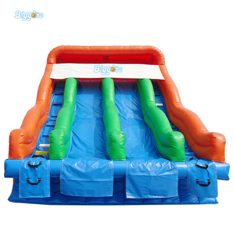 Inflatable Biggors Inflatable Water Park Slides For Sale commercial sea inflatable blue water slide with pool and arch for kids