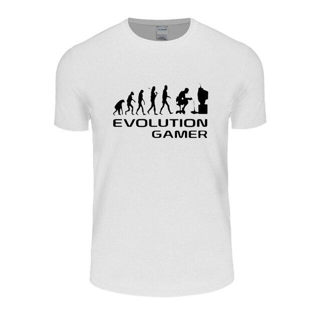 Эволюция PC Gamer Geek Для досуга футболка