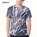 Zecmos 3D Print Novelty T Shirts Men Bodybuilding Tshirts Cotton Quick Dry T-Shirts Thunder Mens Clothing