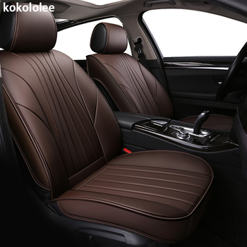 kokololee PU Leather car seat covers For Toyota Corolla Camry Rav4 Auris Prius Yalis Avensis SUV auto accessories car sticks