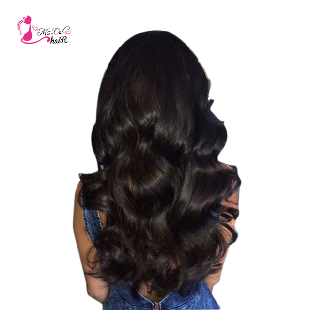 Ms Cat Hair Extensions Indian Body Wave Hair Weaves 3 Bundles 100