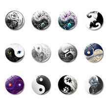 1pcs cute pattern mode dome glass fridge magnet sticker earth cabochon note message holder gift
