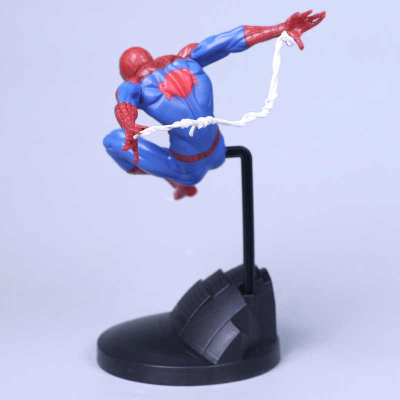 2 colores vengadores Spiderman Anime juguetes Spider-Man modelado figura de acción Super héroe 18 CM modelo de muñeca de juguete de PVC con caja de regalo para niños