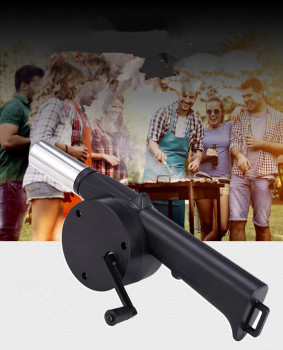 1PC Barbecue Hand-cranked air blower,BBQ Fan Grill Picnic Camping Mangal Make Fire Tools Soplador Barbacoa Churrasco QA 050 image