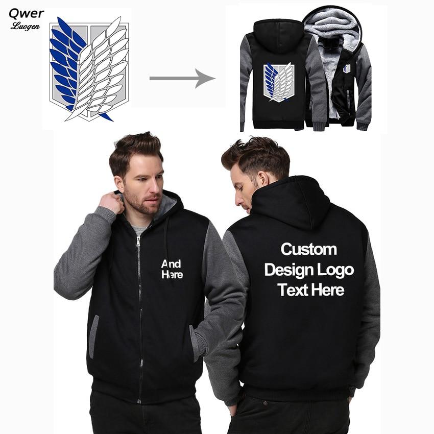 US Size Custom Mens Hoodies DIY Print LOGO Design Hoodie Winter Fleece Thicken Coat Jacket Sweatshirts Drop Shipping Указатель поворота