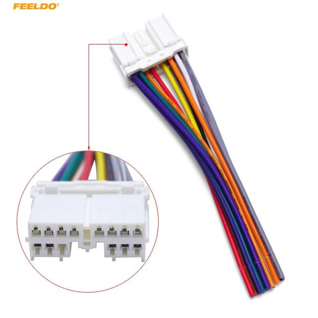 FEELDO 5Pcs Car Stereo Audio Radio CD/Plaery Wiring Harness Adapter
