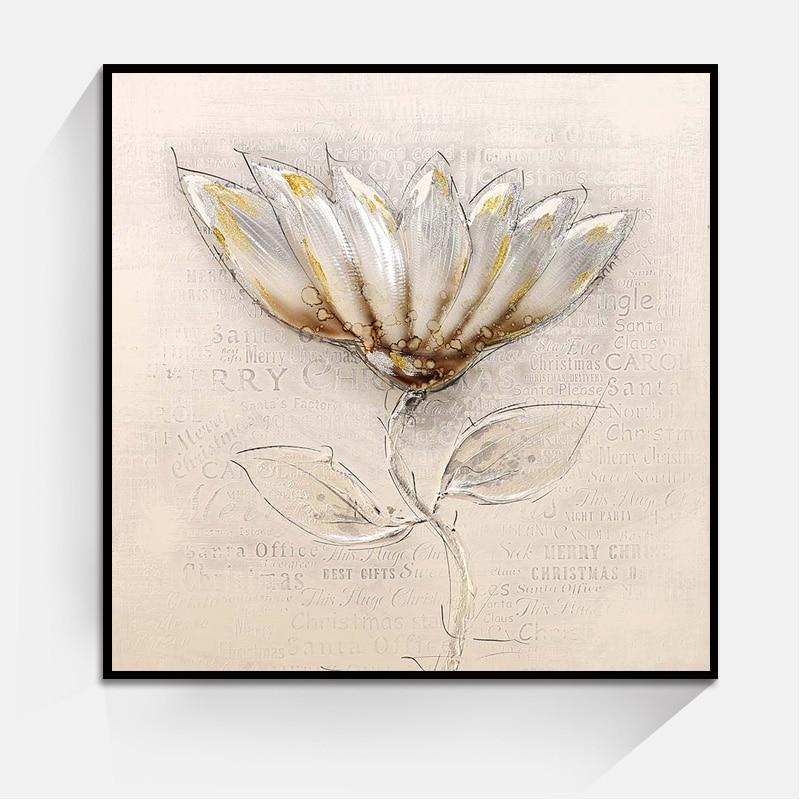 Aliexpress.com : Buy Simple Color Lotus Art Flower Wall ...