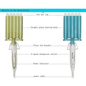 Image 4 - Hair Rooler Perm Splint Ceramic Hair Curler 5 Barrels Big Wave Hair Curling Iron Hair Waver Curlers Styling Tools