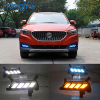 led dr daytime running light for MG ZS 2017 2018 with Dynamics moving flash turn signal and blue night light