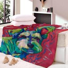 Pet Dog Collection Sherpa Blanket 3D Animal Pug Plush Throw Bulldog Husky Doberman Rottweiler Thin Quilt