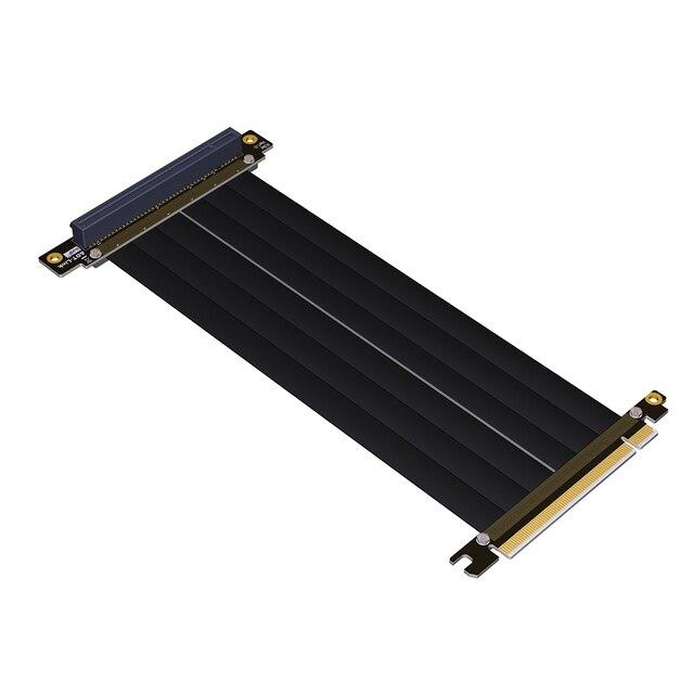 PCI E X16 כדי 16X 3.0 זכר לנקבה Riser כבל מאריך כרטיס מסך מחשב PC Chasis PCI Express Extender סרט 128G/Bps
