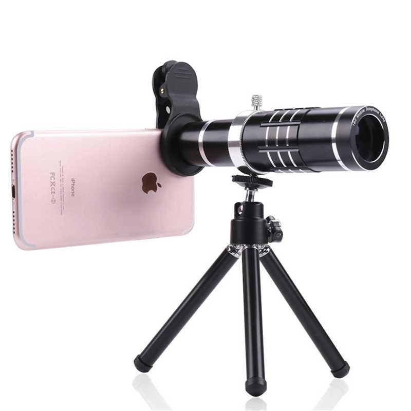携帯電話レンズキット 18X 光学 Lentes 望遠ズームレンズ望遠鏡顕微鏡フィッシュアイ広角マクロレンズ