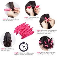 Polka Dot Soft Sleep Hair Curlers 10 pcs Set