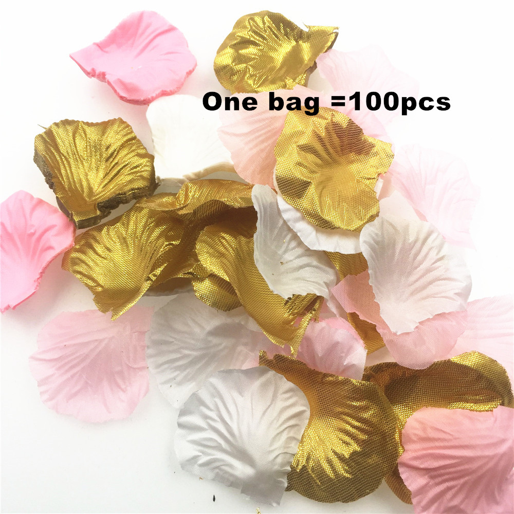 Artificial Flowers Confetti petals birthday party decorations kids Silk  Fabric Flower Petals wedding decoration flower confetti-in Artificial    Dried ... 28dfb743b32b