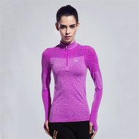 Long Sleeve Women Gym Compression Sport T Shirt Fitness Quick Dry Running Tops T Shirts Body