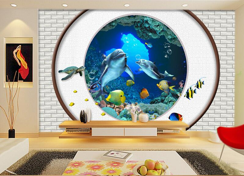 3d Room Wallpaper Custom Mural Non Woven Wall Sticker 3 D Wall Outside The  Sea