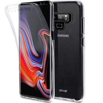 LYQLKL Front+Back Case 360 Degree Full Body Two Crystal TPU Case For Samsung Galaxy Note 9 Case For Samsung Galaxy Note 9 Note9 360 degrees