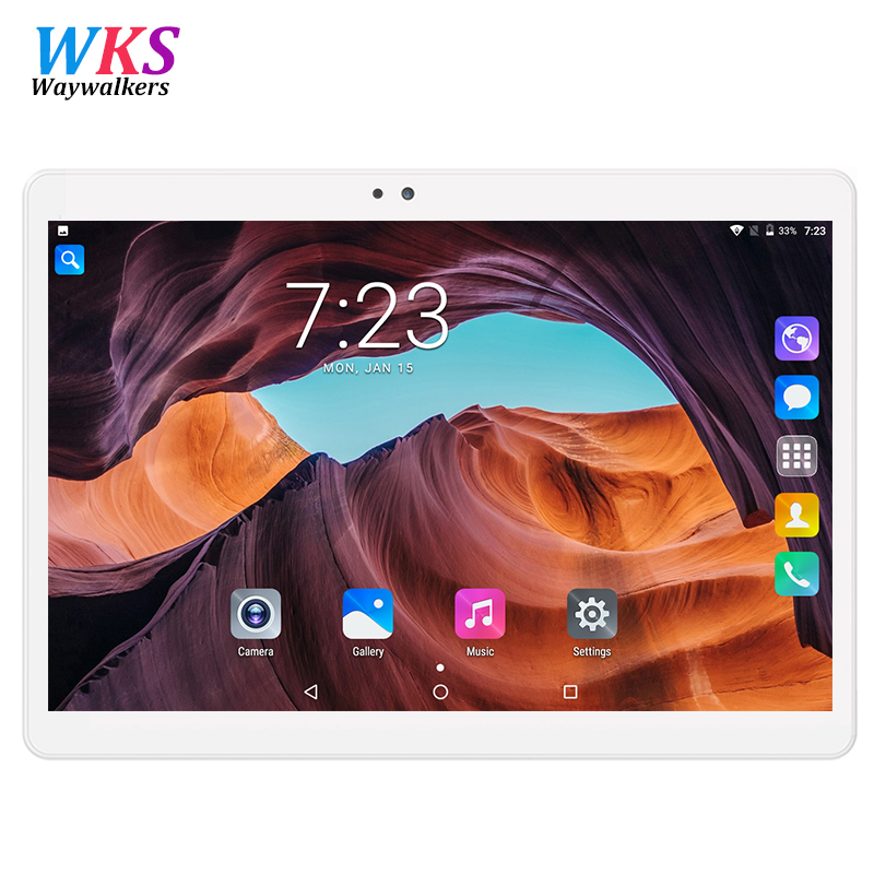 2018 10.1 Android 7.0 Tablet Pc Octa Core 4GB RAM 32GB 64GB Tablette Built-in 3G Phone Call Dual SIM Card Tablets PC FM WIFI lnmbbs car tablet android 5 1 octa core 3g phone call 10 1 inch tablette 1280 800ips wifi 5 0 mp function 1 16gb multi play card
