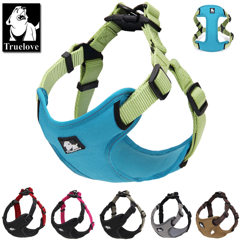 Truelove Polstret reflekterende hundesele vest Pet Dog Trin i Harness Adjustable Nej Træk kæledyr Harnesses for Small Medium Dog