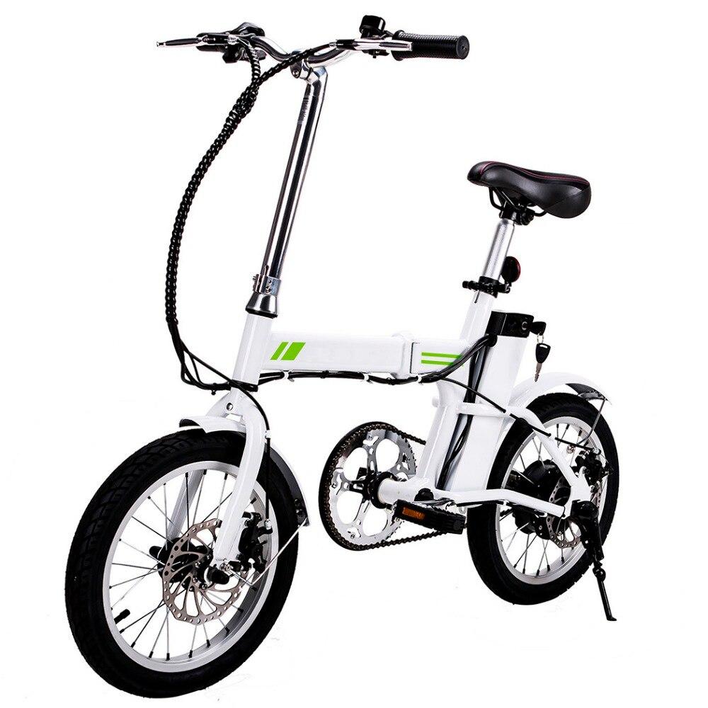 Ancheer 16 дюймов новый открытый E-велосипед складной велосипед с складной рама и руль Дисплей ЕС Plug