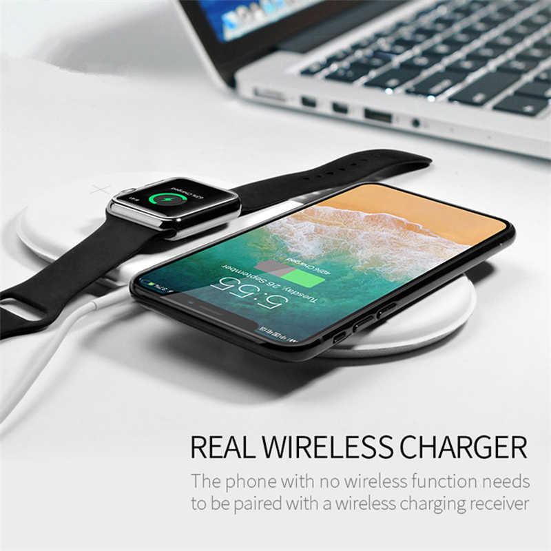 brand new a1db3 b896f For Apple Watch 2 3 4 Airpower mat Airpods QI Wireless Charger base For  iPhone X XS Max XR 8 8Plus 10 Fast Wireless Charging Pad