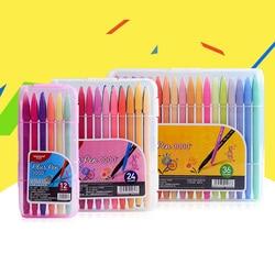 Monami 36 kolor ręcznie malowane z włókna linia długopis uczeń malarstwo pióro neutralne w Długopisy żelowe od Artykuły biurowe i szkolne na