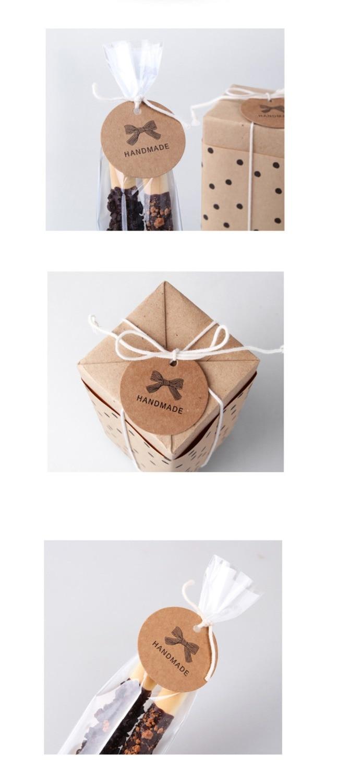 100 Stücke Danke Bowknot Handgemachte Kuchen Verpackung Versiegelung ...