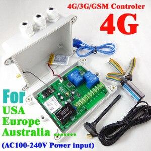 4g/3g/gsm duplo relé interruptor remoto controlador (interruptor de relé sms) bateria recarregável para desligar o alarme GSM-AUTO-AC 4g