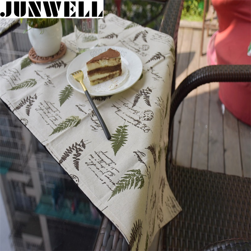 2pcs/lot 50x70cm Linen Cotton Tree Printing Dishtowel Kitchen Towel Cleaning Cloth Tea Towel Table Topper