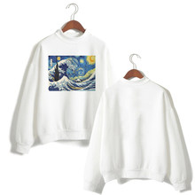 Harajuku Van Gogh Ukiyoe Art Oil Print Long Sleeve Shirt Hoodies Women White Sweatshirt Top Ladies Vogue Kpop Streetwear Clothes(China)
