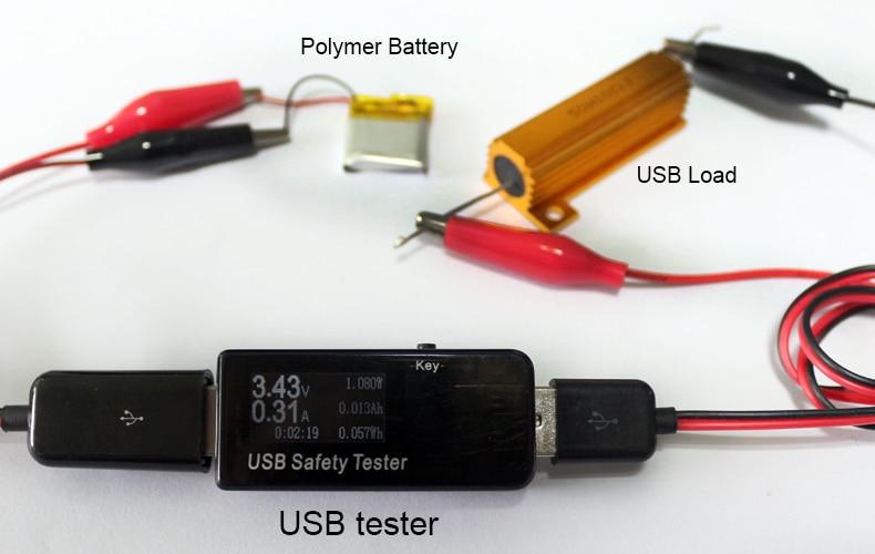 Drut krokodylowy USB Zaciski krokodylkowe Męski na tester USB do - Przyrządy pomiarowe - Zdjęcie 4