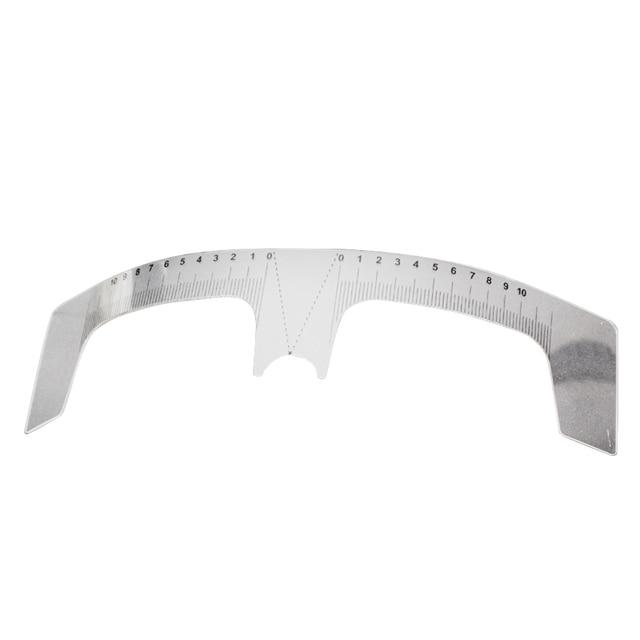 New Arrival Eyebrow Grooming Stencil Shaper Ruler Measure Tool Makeup Reusable Eyebrow Ruler Tool Measures # 4