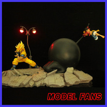 MODEL FANS HFC Dragon Ball Z 45cm super saiyan goku vs Monkey D. Luffy gk resin action figure toy for Collection