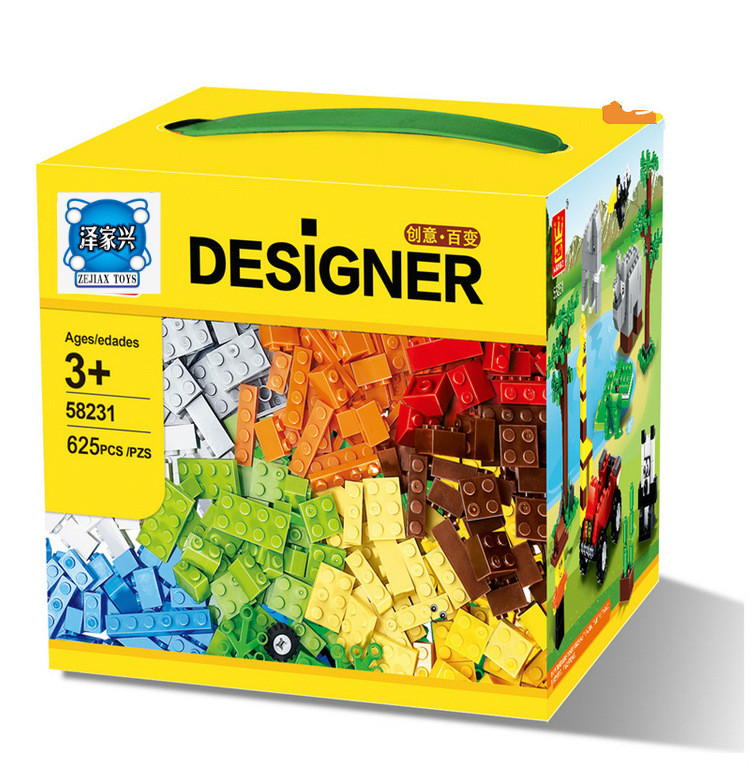 625 Pcs Building Blocks City DIY Creative Bricks Toys for Child Educational Building Block Bricks Toys Compatible with Lepins 1000 pcs diy creative brick toys for child educational building block sets bulk bricks compatible with major brand blocks