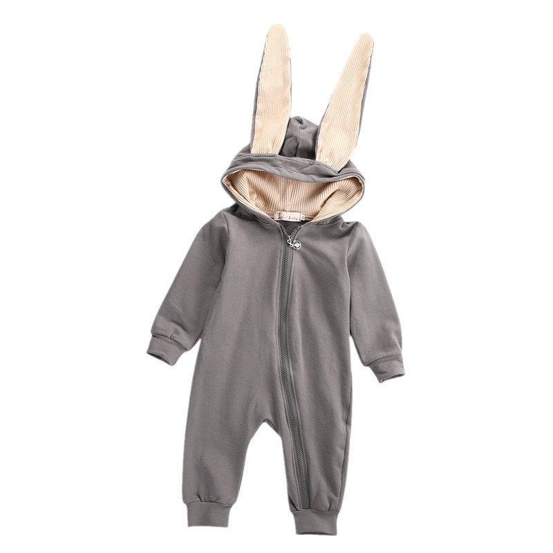 Kids Infant Toddler Newborn Baby Girl Boy Cute Long Ear Romper Jumpsuit Playsuit Outfit Long Sleeve Costume 0-3T baby boy clothes kids bodysuit infant coverall newborn romper short sleeve polo shirt cotton children costume outfit suit