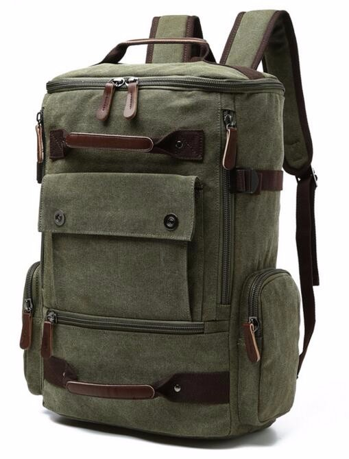 Men Laptop Backpack 15 Inch Rucksack Canvas School Bag Travel Backpacks for Teenage Male Notebook Bagpack Computer Knapsack Bags 7