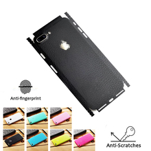 Leather Pattern Skin Sticker for IPhone 6 S 7 8 Plus X S Back Film Thin Protector Protective Cover Paste Rear Decorative Sticker stylish floral pattern front back decorative sticker set for iphone 6 4 7 purple green