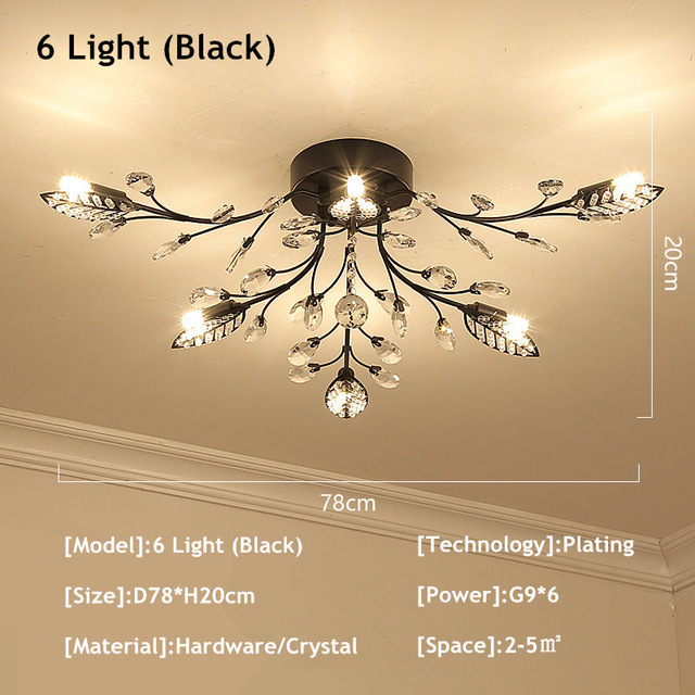 6 Lights Black