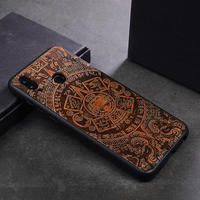 Роскошный Деревянный чехол для huawei Honor 8x чехол деревянный силиконовый бампер чехол для телефона чехол для huawei Honor 8x Coque