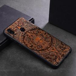 Luksusowy drewniany pokrowiec do Huawei Honor 8x przypadku drewna silikonowy bumper telefon pokrywy skrzynka dla Huawei Honor 8x Coque