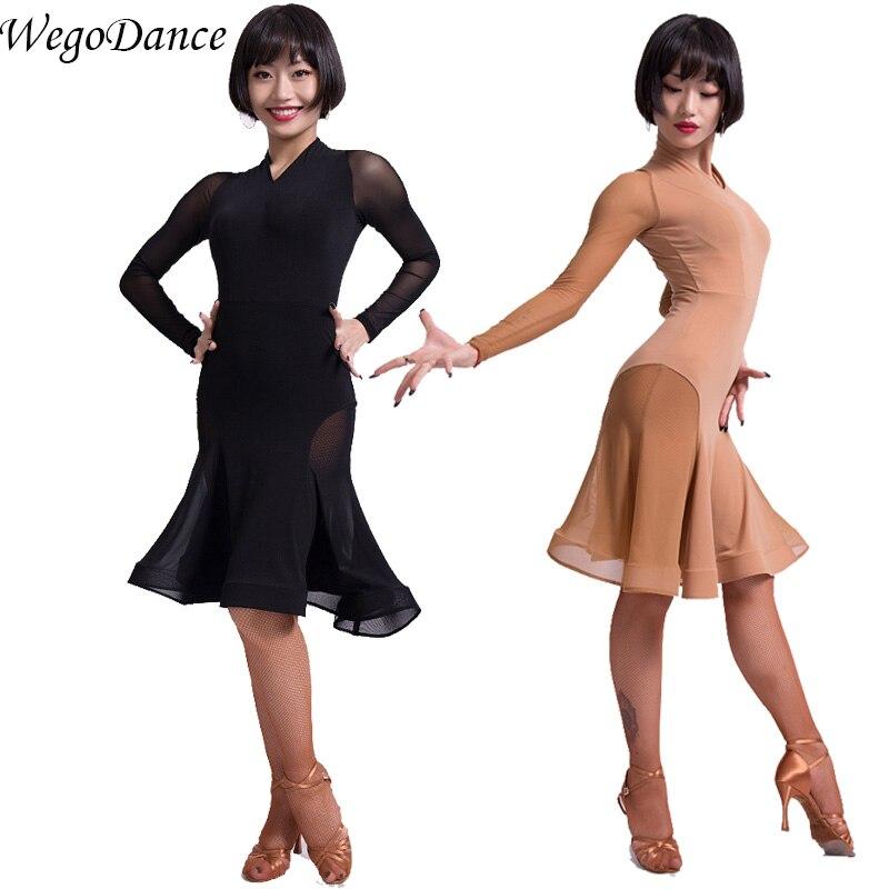 Новое латинское танцевальное платье для женщин, бесплатная доставка