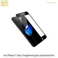 4 pçs/lote Para o iphone 7 7G, 7 Mais Película Protetora Capa Protetor de Tela De Vidro Temperado 9 H 4D Completo Ouro Vermelho Preto Cor Branco