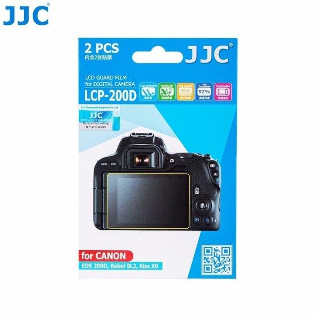 JJC LCP 200D LCD 가드 필름 화면 보호기 (2) 애완 동물 커버 캐논 EOS 200D/반란군 SL2/키스 X9