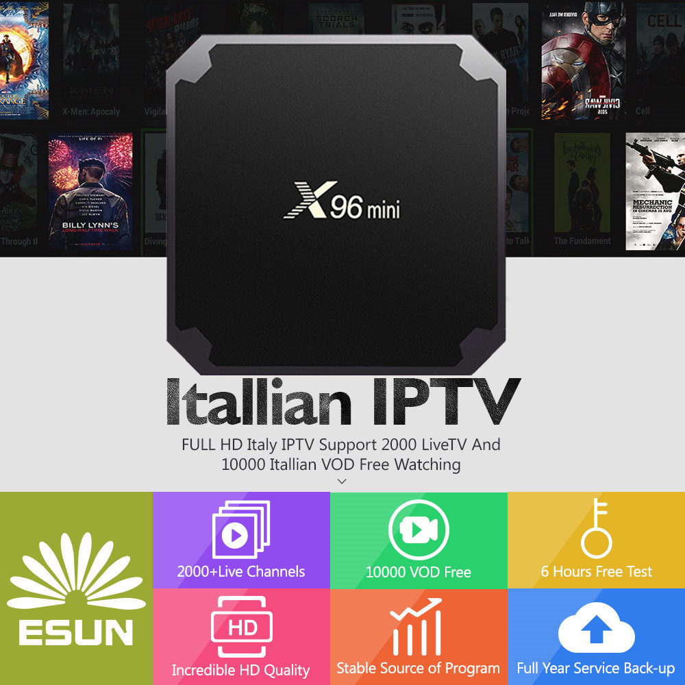 X96 Mini 1G8G Android 7.1 box configured Switzerland/Spain/Sweden/Germany/Albania/Italy/Portugal/EX-YU/Europe/xxx Set-Top Box a95x pro voice control with 1 year italy iptv box 2g 16g italy iptv epg 4000 live vod configured europe albania ex yu xxx